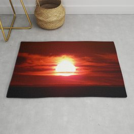 Surreal Flaming Sunset Rug