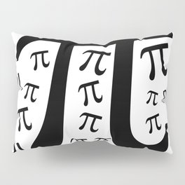 The Pi symbol mathematical constant irrational number, greek letter, background Pillow Sham