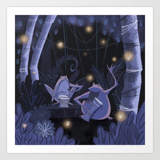 Music in the Night Art Print