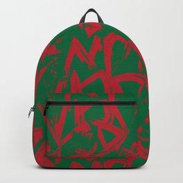Christmas Brush Strokes Pattern Background Backpack