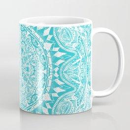 Aqua Blue Mandala Coffee Mug