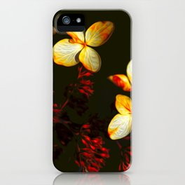 Fairy Flowers - Darkness  iPhone Case