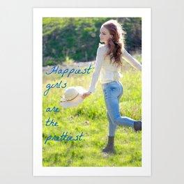 Happy and Free Girl Art Print