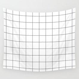 White Grid  /// www.pencilmeinstationery.com Wall Tapestry