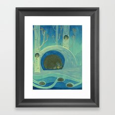 Sleeping in Shifts Framed Art Print