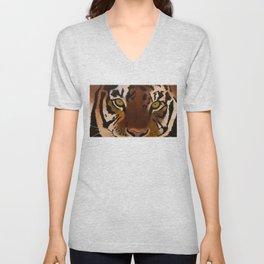 Bengal Tiger Portrait Unisex V-Neck