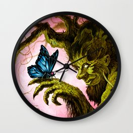 Tree and Butterfly Wall Clock