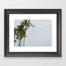 Palm Trees in Hawaii Framed Art Print