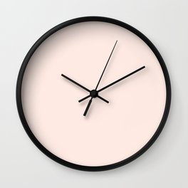 Perfect Pale Blush Solid  Wall Clock