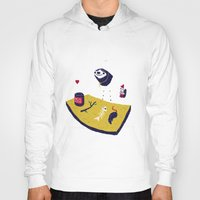 cooking Hoodies featuring cooking with monsieur sloth by Louis Roskosch
