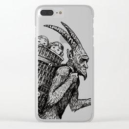 Gruss vom Krampus Clear iPhone Case