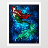 mandie manzano Art Prints featuring The Mermaids Song by Mandie Manzano