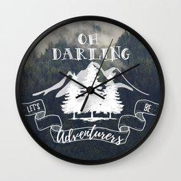 Oh Darling Wall Clock