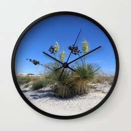 White Sands Dune With Soap Yucca Wall Clock