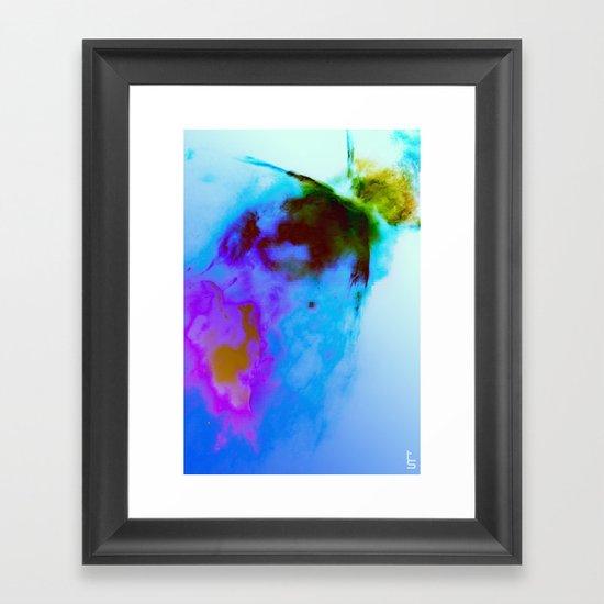Oil-Stained Framed Art Print