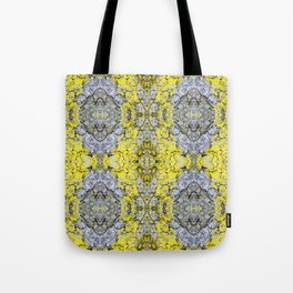 Yellow and Grey Abstract Pattern Tote Bag