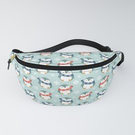 Winter penguins pattern Fanny Pack