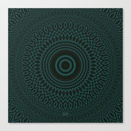 Mandala Fractal in Teal Study 04 Canvas Print