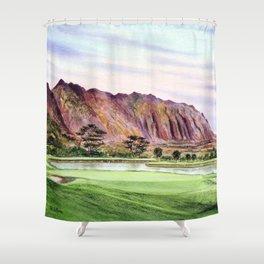 Koolau Golf Course Hawaii 16th Hole Shower Curtain