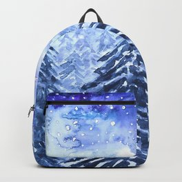 pine forest under galaxy  Backpack