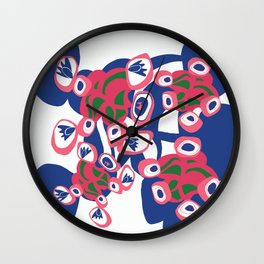 Connecting placement print Wall Clock