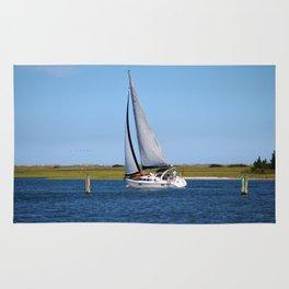 Sailing At Masonboro Island Rug