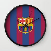 barcelona Wall Clocks featuring Barcelona by Kesen