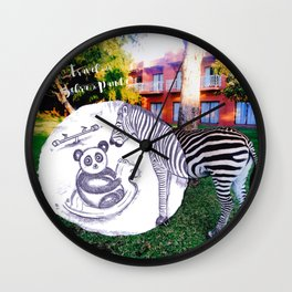 Travel with Zebra and Panda Wall Clock