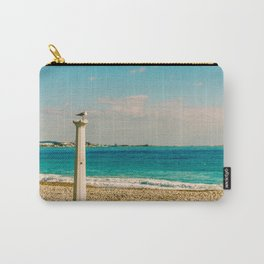 Seacoast of Cagnes-sur-Mer in a sunny winter day Carry-All Pouch