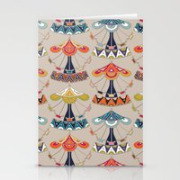damask Stationery Cards featuring carousel damask by Sharon Turner
