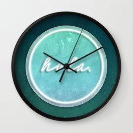 hola. Wall Clock
