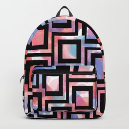Black and White Squares Pattern 06 Backpack