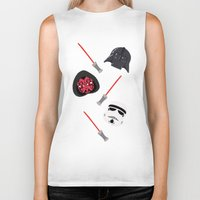 dark side Biker Tanks featuring dark side by ptero