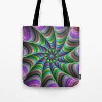 striped Tote Bags featuring Striped tentacles by David Zydd