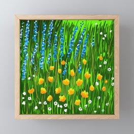 Lavender and Poppies Framed Mini Art Print