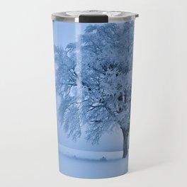 Solitary Snow Tree - Landscape Photograhpy Travel Mug