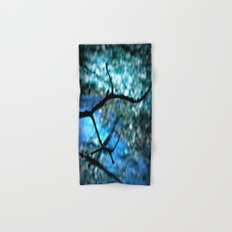 Turquoise Blue Nature Abstract Hand & Bath Towel