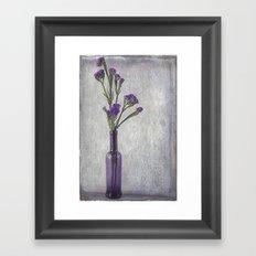 Purple Vase Framed Art Print