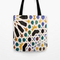 escher Tote Bags featuring Escher Inspiration by Nancy Smith
