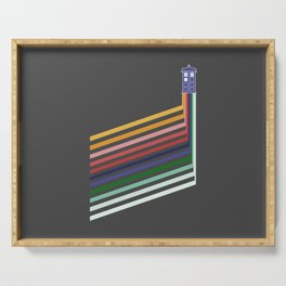 13th Doctor Retro Diagonal Stripes Serving Tray