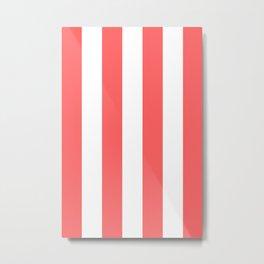 Classic Modern Retro 60s Red Stripe Pattern Metal Print