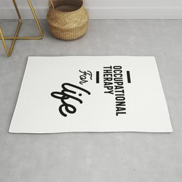 Occupational Therapy Work Job Title Gift Rug