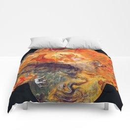 "Eugène Delacroix ""Apollo slays Python"" Comforters"
