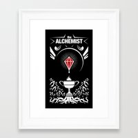 full metal alchemist Framed Art Prints featuring The Alchemist by James Daher