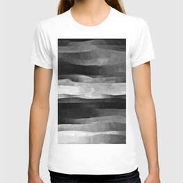 Glowing Smoky Abstract - Black and White T-shirt