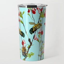 Blue Banded Bee Amegilla cingulata Travel Mug