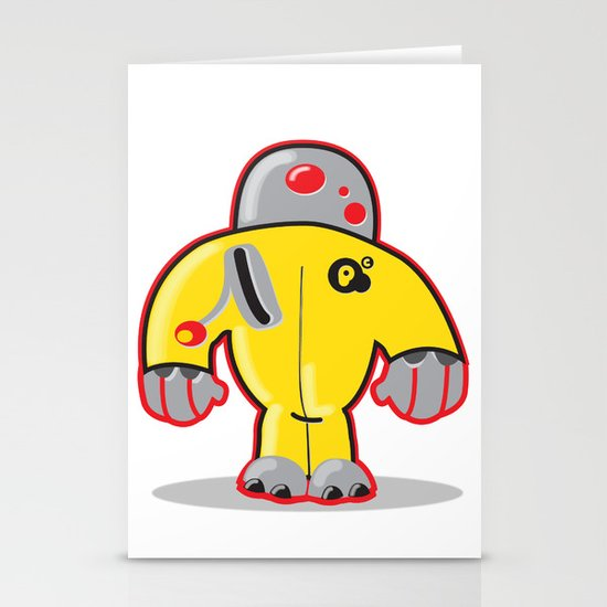 Sp8  robot character Stationery Cards