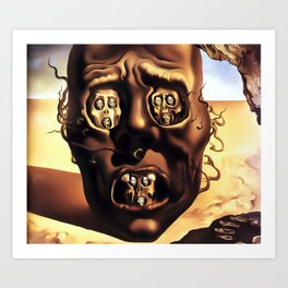 Salvador Dali The Face of War (The Visage of War) 1940 Artwork for Wall Art, Prints, Posters, Tshirts, Men, Women, Kids Art Print