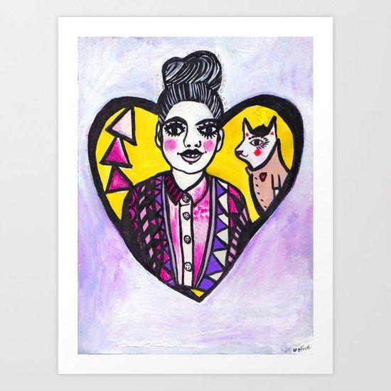 Coco & Franz Art Print