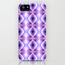 Blue Purple Geometric Diamond Pattern Design iPhone Case